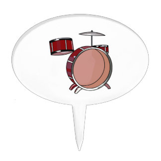 drumset simple three piece red.png cake topper