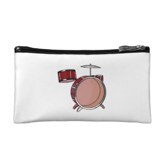 drumset simple three piece red.png cosmetic bag