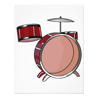 drumset simple three piece red.png personalized announcement
