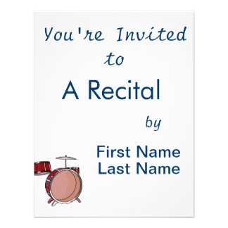 drumset simple three piece red.png personalized invitations