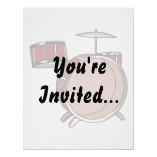 drumset simple three piece red.png invites