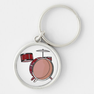 drumset simple three piece red.png keychain