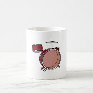drumset simple three piece red.png coffee mug