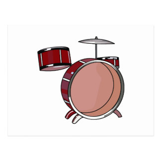 drumset simple three piece red.png postcard