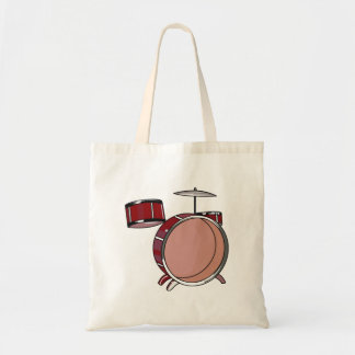 drumset simple three piece red.png tote bag