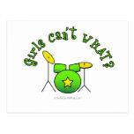 Drumset - verde tarjeta postal