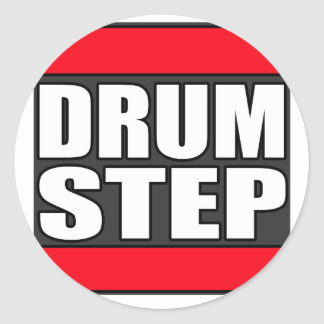 DRUMSTEP Drum and Bass and Dubstep Classic Round Sticker