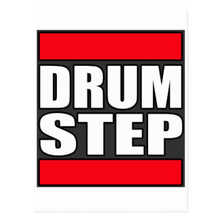 DRUMSTEP Drum and Bass and Dubstep Postcard
