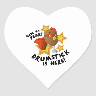 Drumstick Is Here Heart Sticker
