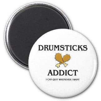 Drumsticks Addict Refrigerator Magnets