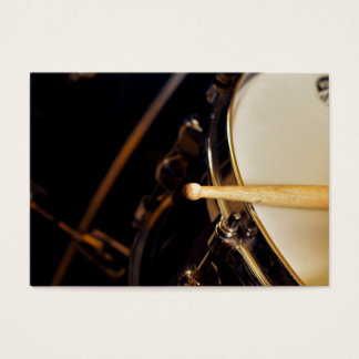 Drumsticks and drums-drummer gift business card