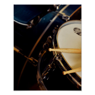 Drumsticks and drums-drummer gift poster