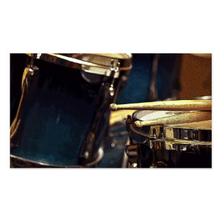 Drumsticks and Snare Business Card