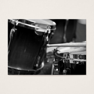 Drumsticks and Snare Drum Business Card