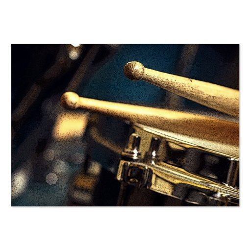 Drumsticks and Snare Drum Large Business Cards (Pack Of 100)