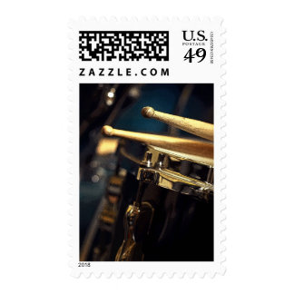 Drumsticks and Snare Drum Postage