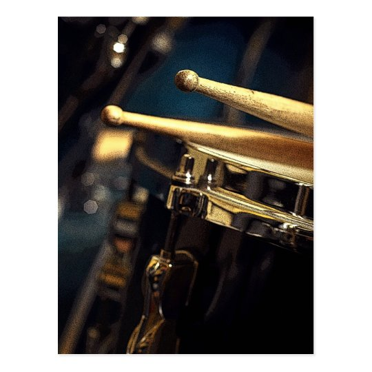 Drumsticks and Snare Drum Postcard