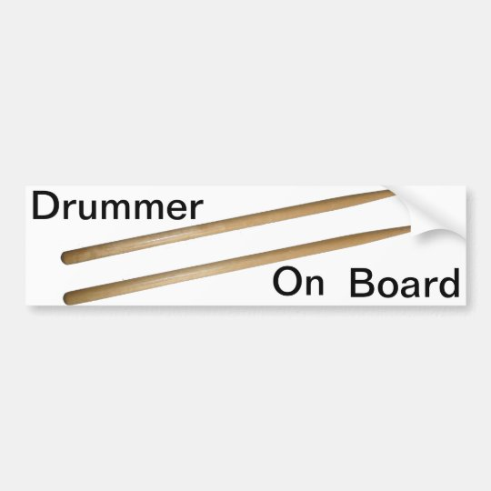 Drumsticks Bumper Sticker