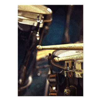 Drumsticks & Drumset Custom Announcement