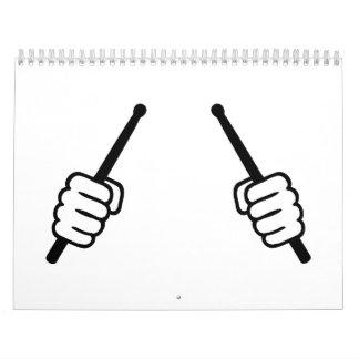 Drumsticks hands calendar