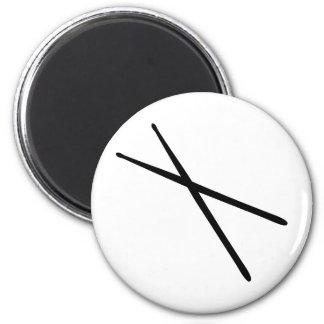 drumsticks icon 2 inch round magnet