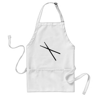 drumsticks icon adult apron