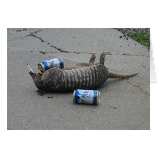 Drunk Armadilla -  Customize Card