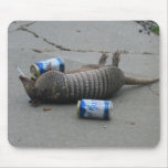 Drunk Armadillo Mouse Pad