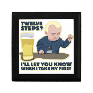 Drunk Baby 12 Step Program? Keepsake Box