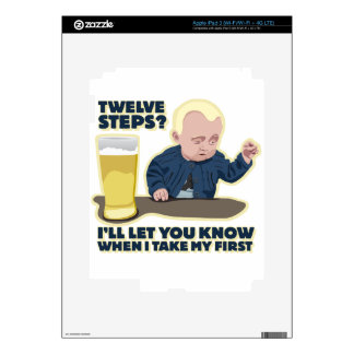 Drunk Baby 12 Step Program? Decal For iPad 3