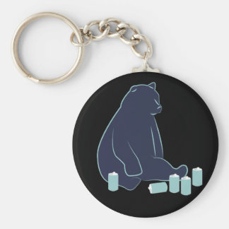 Drunk Bear Key Chain