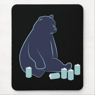 Drunk Bear Mouse Pad