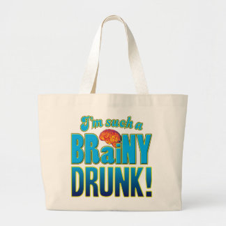 Drunk Brainy Brain Canvas Bag