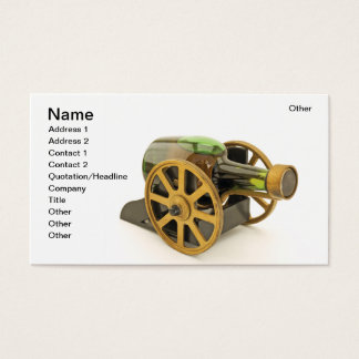 Drunk cannon business card