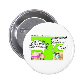 Drunk Cartoonists Funny Gifts Tees & Collectibles Button