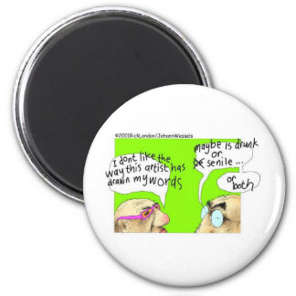 Drunk Cartoonists Funny Gifts Tees & Collectibles Magnet