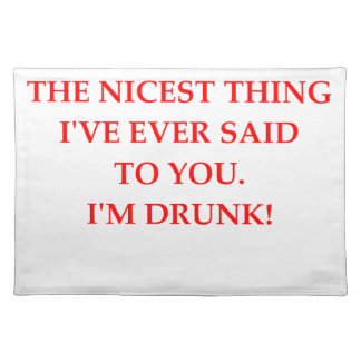 DRUNk Cloth Placemat