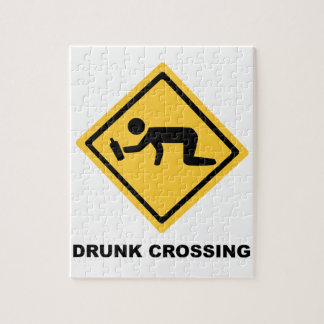 Drunk Crossing Sign Jigsaw Puzzle