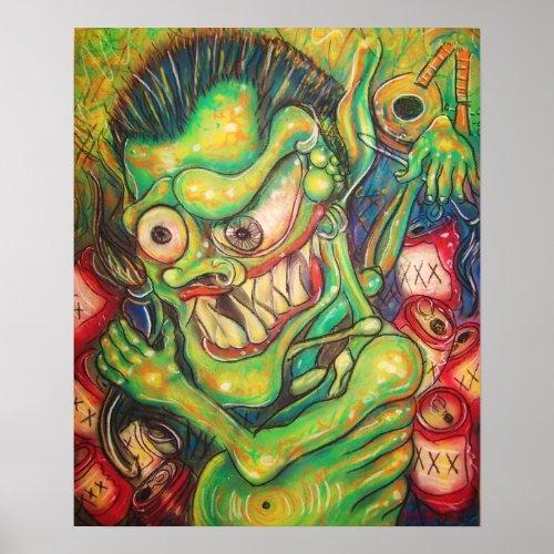 drunk demon print
