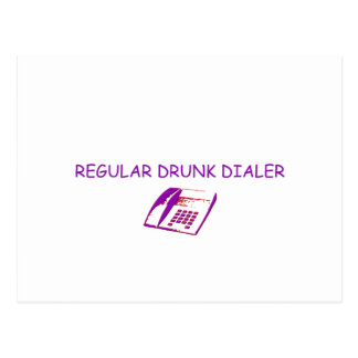 drunk dialer postcard