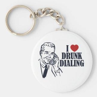 Drunk Dialing Basic Round Button Keychain