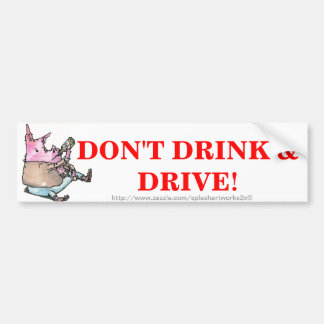 """DRUNK DRIVING"" BUMPER STICKER"