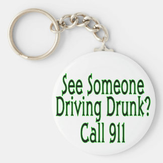 Drunk Driving Call 911 Keychain