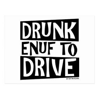 Drunk Enuf To Drive Postcard