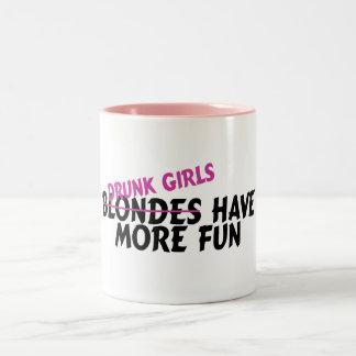 Drunk Girls Have More Fun Two-Tone Coffee Mug