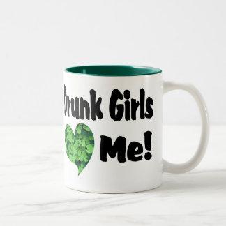 Drunk Girls Two-Tone Coffee Mug