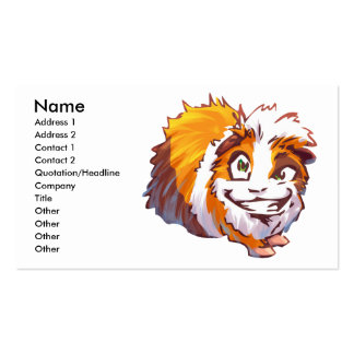 Drunk Guinea Pig Double-Sided Standard Business Cards (Pack Of 100)