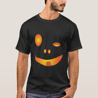 Drunk Halloween Pumpkin Face T-Shirt