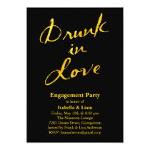 Drunk in Love Engagement Party Invitation Gold