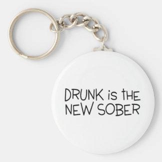 Drunk Is The New Sober Basic Round Button Keychain